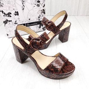 CL by Laundry Genna Animal Print Platform Sandals